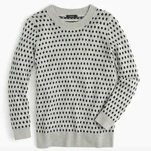 J. Crew Black Tippi Jacquard Dot Sweater S F4950